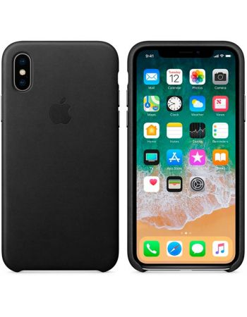 Чехол для iPhone Apple iPhone X Leather Case Black